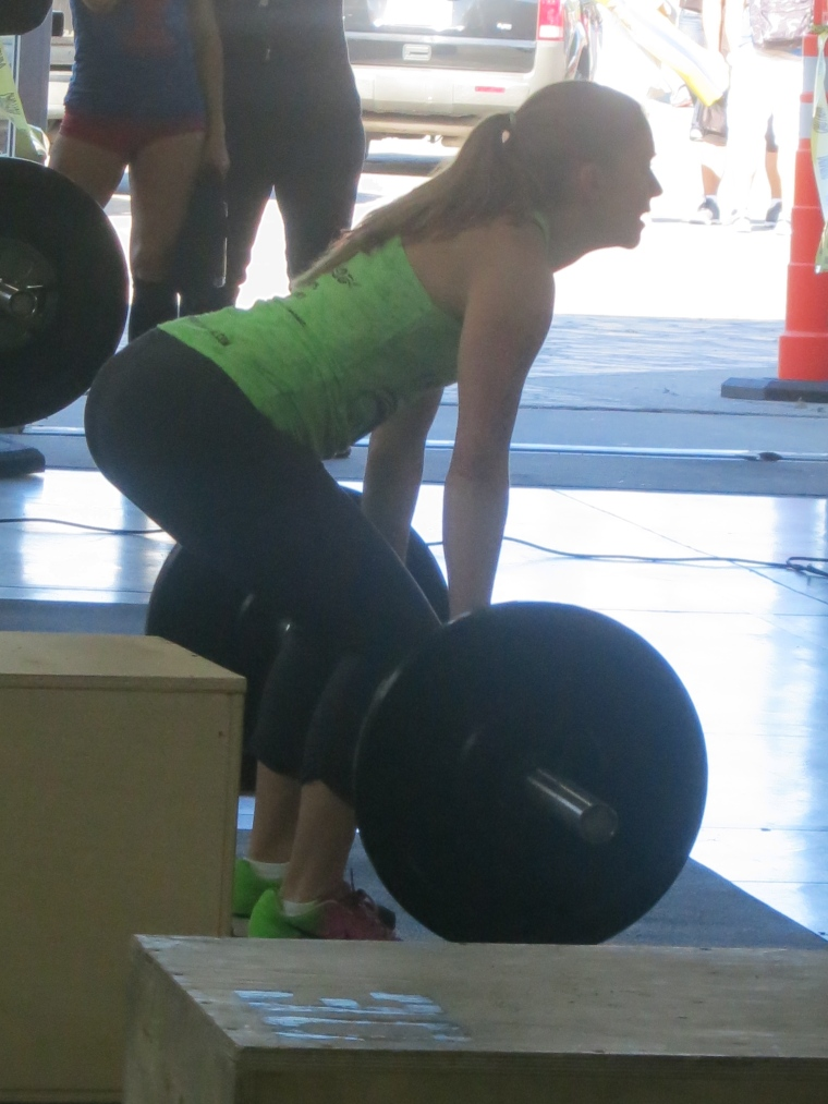 The author performing an olympic lift.