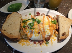 "The ""Loaded Hash Browns"" at Jacks N Joe."